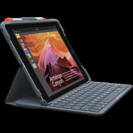 Клавиатура Logitech Slim FOLIO за iPad (5th и 6th gen) - Черна