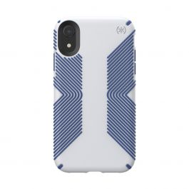 Speck case for iPhone XR PRESIDIO GRIP (MICROCHIP GREY/BALLPOINT BLUE)