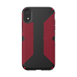 Speck case for iPhone XR PRESIDIO GRIP (BLACK/DARK POPPY RED)