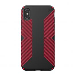 Калъф Speck за iPhione XS Max PRESIDIO GRIP (BLACK/DARK POPPY RED)