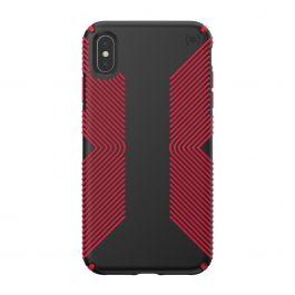 Калъф Speck за iPhione XS Max PRESIDIO GRIP (BLACK/DARK POPPY RED)