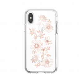 Speck case for iPhone XS/X PRESIDIO CLEAR + PRINT (FAIRYTALEFLORAL PEACH GOLD/CLEAR)
