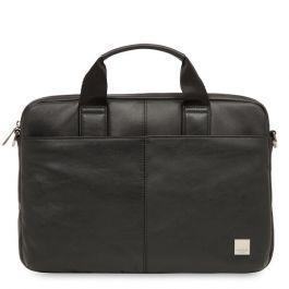 Черна кожена чанта Knomo STANFORD