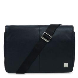 Черна кожена чанта Knomo KINSALE - Messenger Bag