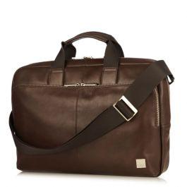 Кафява кожена чанта Knomo NEWBURY