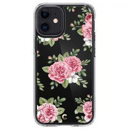 Прозрачен кейс с цветя от Spigen - Cecile за iPhone 12