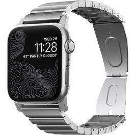 Метална каишка Nomad Steel за Apple Watch 44/42 mm - сребриста