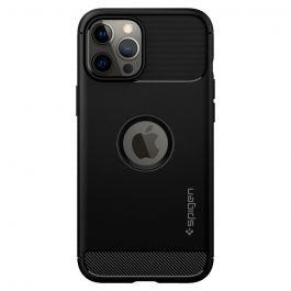 Черен кейс от Spigen - Rugged Armor за iPhone 12 Pro Max