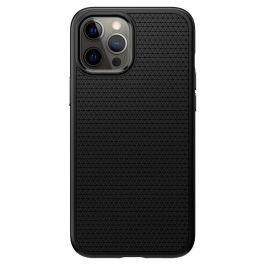 Черен кейс от Spigen - Liquid Air за iPhone 12 | 12 Pro