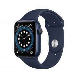 Apple Watch S6, 40мм  син с тъмно синя силиконова каишка