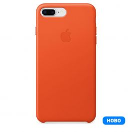 Apple iPhone 8 Plus/7 Plus Leather Case - Bright Orange