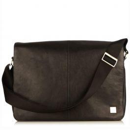 Черна кожена чанта от Knomo - BUNGO