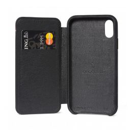Decoded Leather Slim Wallet, black - iPhone XR