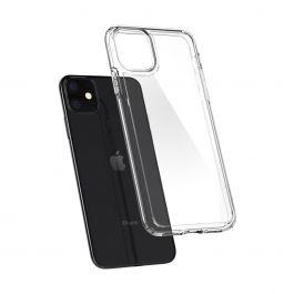 Прозрачен кейс от Spigen Crystal Hybrid за iPhone 11