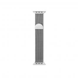 Сребриста метална каишка от EPICO - Milanese за Apple Watch 42/44мм