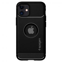 Черен кейс от Spigen - Rugged Armor за iPhone 12 mini
