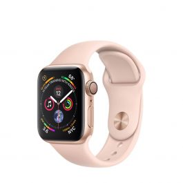 Разопакован Apple Watch Series 4 GPS, 40mm Gold Aluminium Case with Pink Sand Sport Band