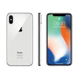 Сребрист смартфон Apple iPhone X Silver с 64GB памет