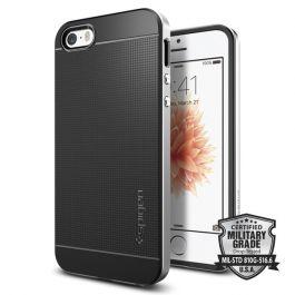 Защитен калъф Spigen Neo Hybrid за iPhone SE/5s/5 с черен гръб и сребрист кант