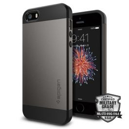Spigen Slim Armor, gunmetal - iPhone SE/5/5S