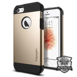 Защитен калъф за iPhone SE/5s/5 - Spigen Tough Armor champagne gold