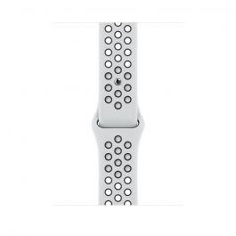 Каишка за Apple Watch от Apple - 45mm Pure Platinum/Black Nike Sport Band - нормална