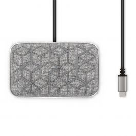 Moshi Symbus Q compact USB-C dock with wireless charging - Nordic Gray