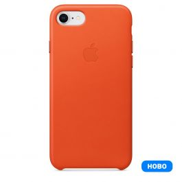 Apple iPhone 8/7 Leather Case - Bright Orange