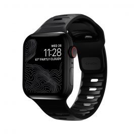 Черна силиконова каишка от Nomad - Sport Strap за Apple Watch 44/42 mm