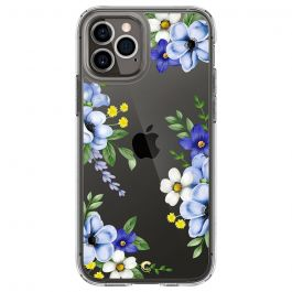 Прозрачен кейс с цветя от Spigen - Cecile за iPhone 12 | 12 Pro