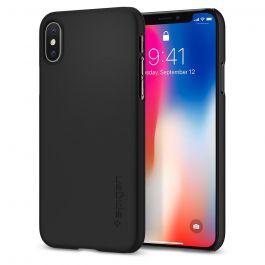 Черен защитен калъф за iPhone X - Spigen Thin Fit