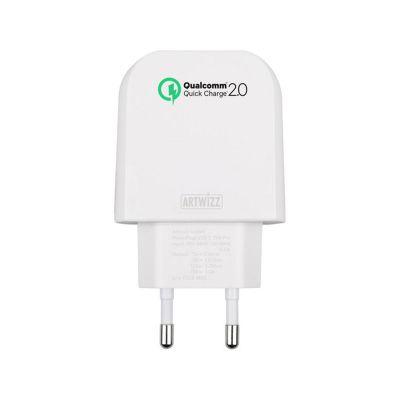 Бяло зарядно устройство Artwizz PowerPlug 15W с USB-C интерфейс