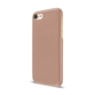 Кожен кейс Leather Clip от Artwizz за смартфон Apple iPhone 7 Plus в телесен цвят