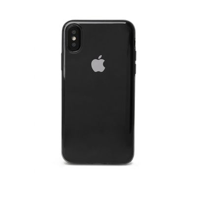 Plastic TPU case for iPhone X EPICO TWIGGY GLOSS - black transparent