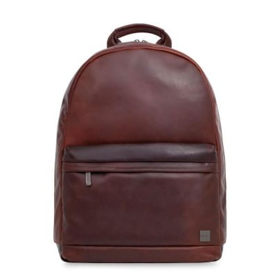 Knomo ALBION Leather Backpack 15inch - Brown