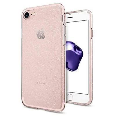 Розов защитен кейс Spigen Liquid Crystal Glitter за iPhone 7/8 Plus
