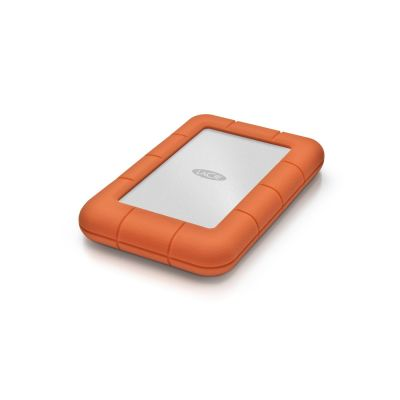 Компактен оранжев удароустойчив външен хард диск LaCie - 1 TB