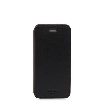Черен кейс с капаче Leather Folio от Knomo за смартфон Apple iPhone 7