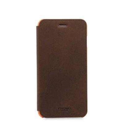 Кафяв кейс с капаче Leather Folio от Knomo за смартфон Apple iPhone 7 Plus