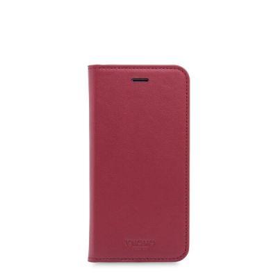 Червен кейс с капаче Premium Folio от Knomo за смартфон Apple iPhone 7