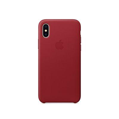Кожен кейс Apple за iPhone X - специално (PRODUCT)RED издание