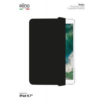 Черен тънък калъф и стойка от Aiino за 9.7inch iPad (Premium) - Roller