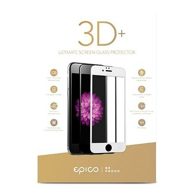 EPICO 3D+ TEMPER GLASS - iPhone 6/7/8 бяло