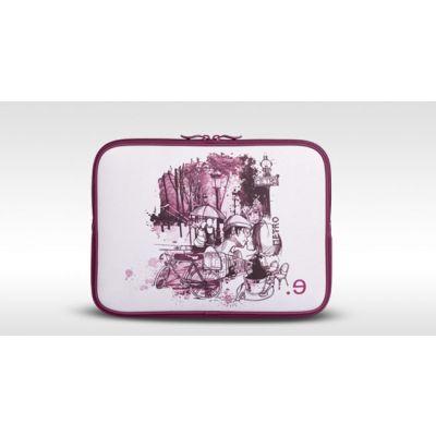 "Лилав неопренов калъф Be.ez LA robe I lov' PARIS за Apple MacBook Air 11"" по дизайн на Матю Ривиер"