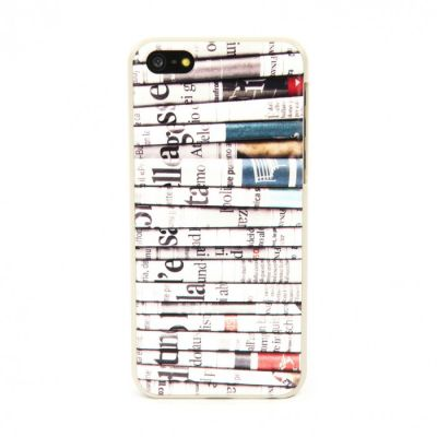 Tucano Delikatessen snap case for iPhone 5C - Newspapers