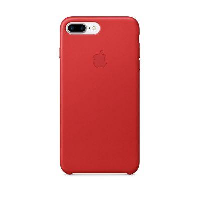 Червен кожен кейс Apple за iPhone 7 Plus