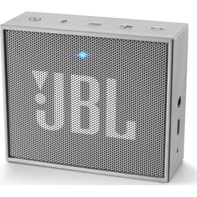 Сива безжична портативна колонка JBL GO с вграден микрофон - 3W