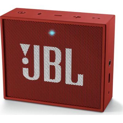 Червена безжична портативна колонка JBL GO с вграден микрофон - 3W