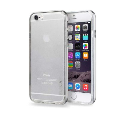 LAUT EXOFRAME Silver Alumunium frame with impact resistant TPU back for iPhone 6 Plus/6S Plus