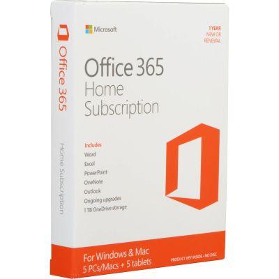 Microsoft Office 365 Home - абонамент за 1 година за 5 потребителя